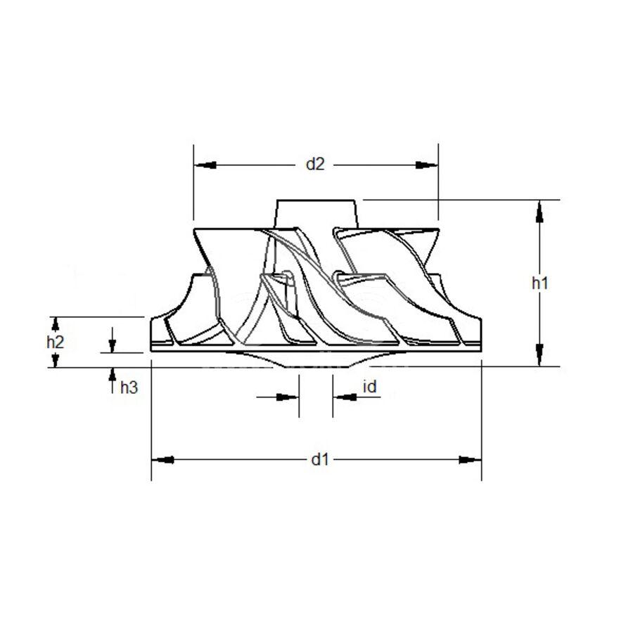 Крыльчатка турбокомпрессора MIT0017