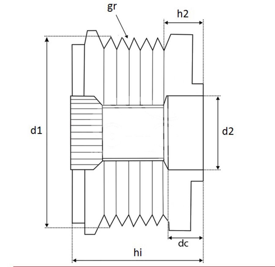 Шкив генератора обгонныйKRAUF APV4569PN (APV4569PN)