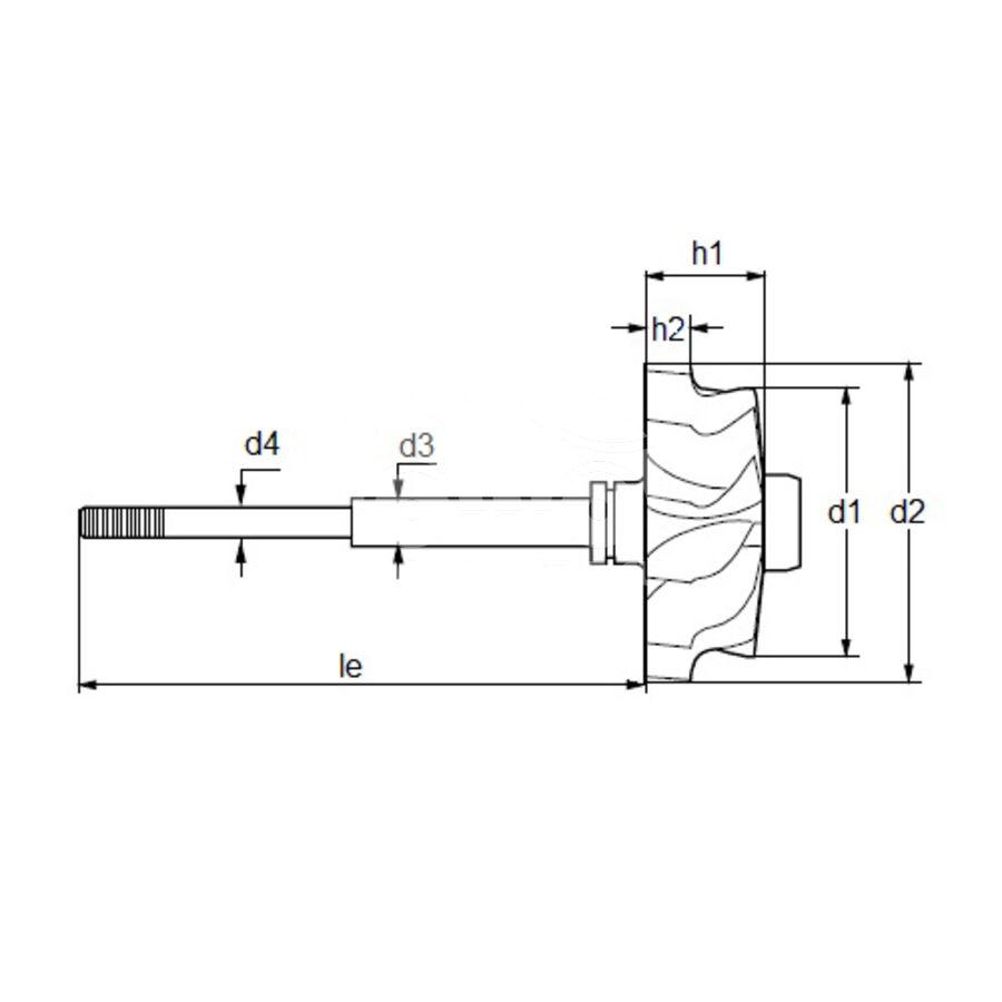 Вал турбокомпрессора MST0063