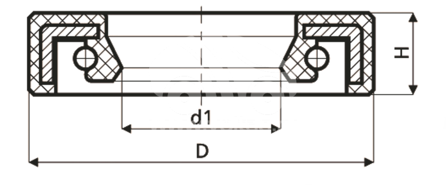 Сальник рулевого редуктора HAZ0012