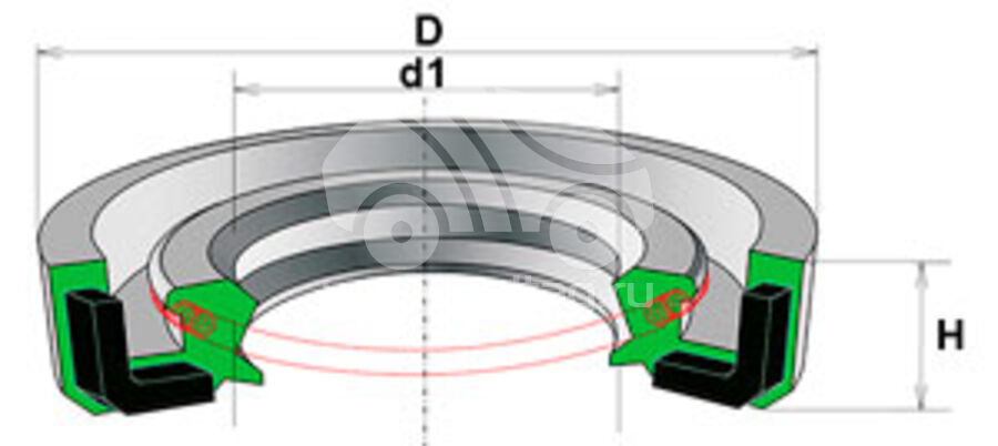 Сальник рулевой рейки HAZ1061