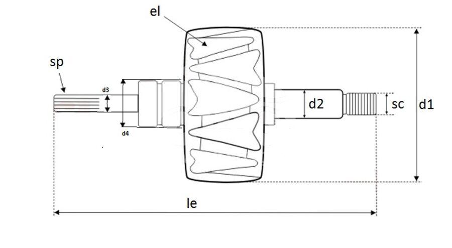 Ротор генератора AVB0579