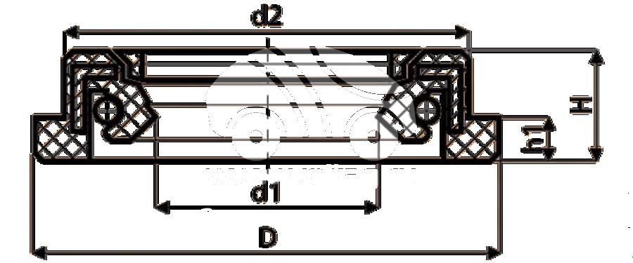 Сальник рулевой рейки HAZ1551