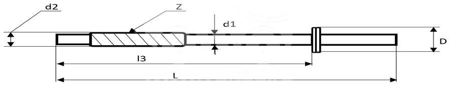 Шток рулевой рейки HEE4027EVL