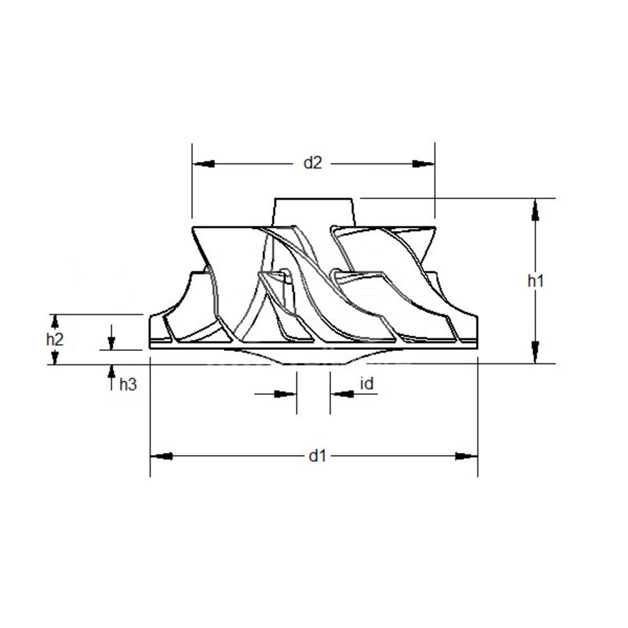 Крыльчатка турбокомпрессора MIT0015