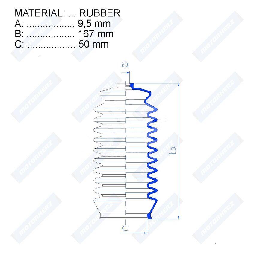 Пыльник рулевой рейки RDZ0217MG