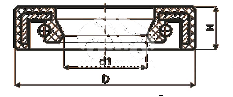 Сальник рулевой рейки HAZ1762