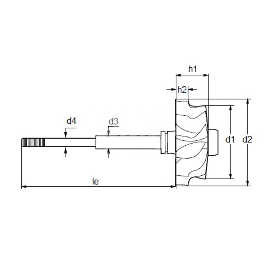 Вал турбокомпрессора MST0017