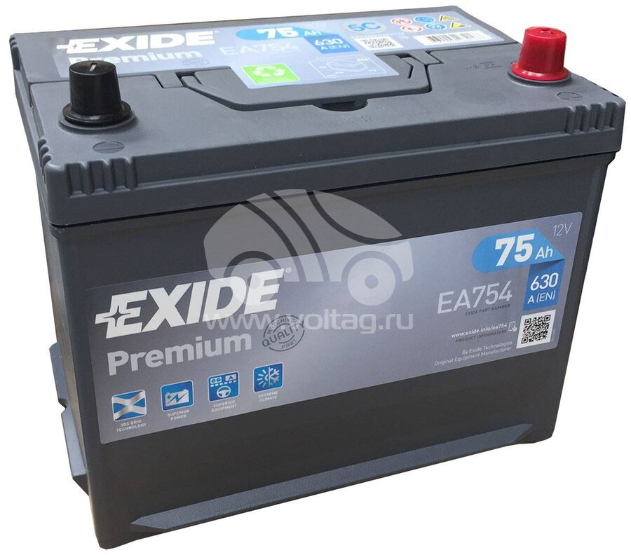 BatteryExide EA754 (267x172x220)